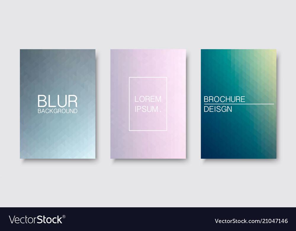 Set of blur covers trendy minimal design