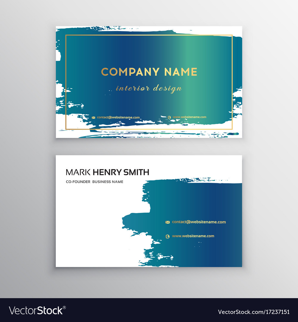 Business card luxury business card design vector image reheart