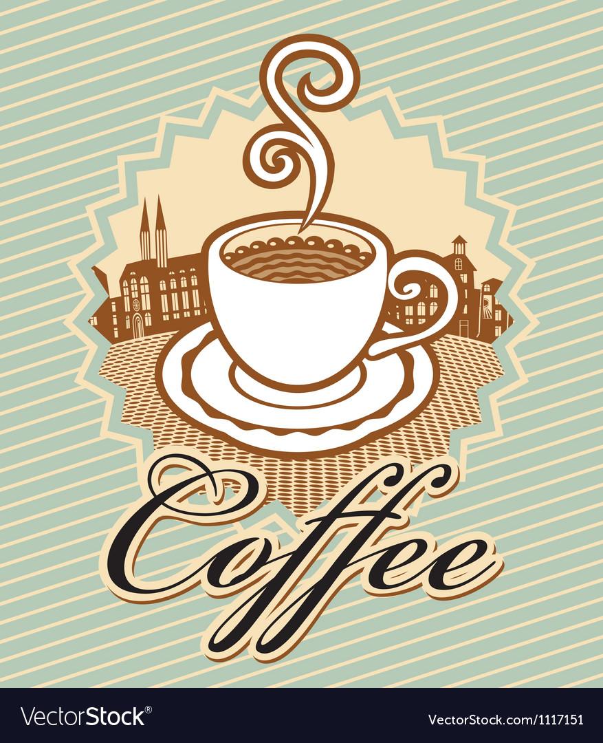Coffee in retro style vector image
