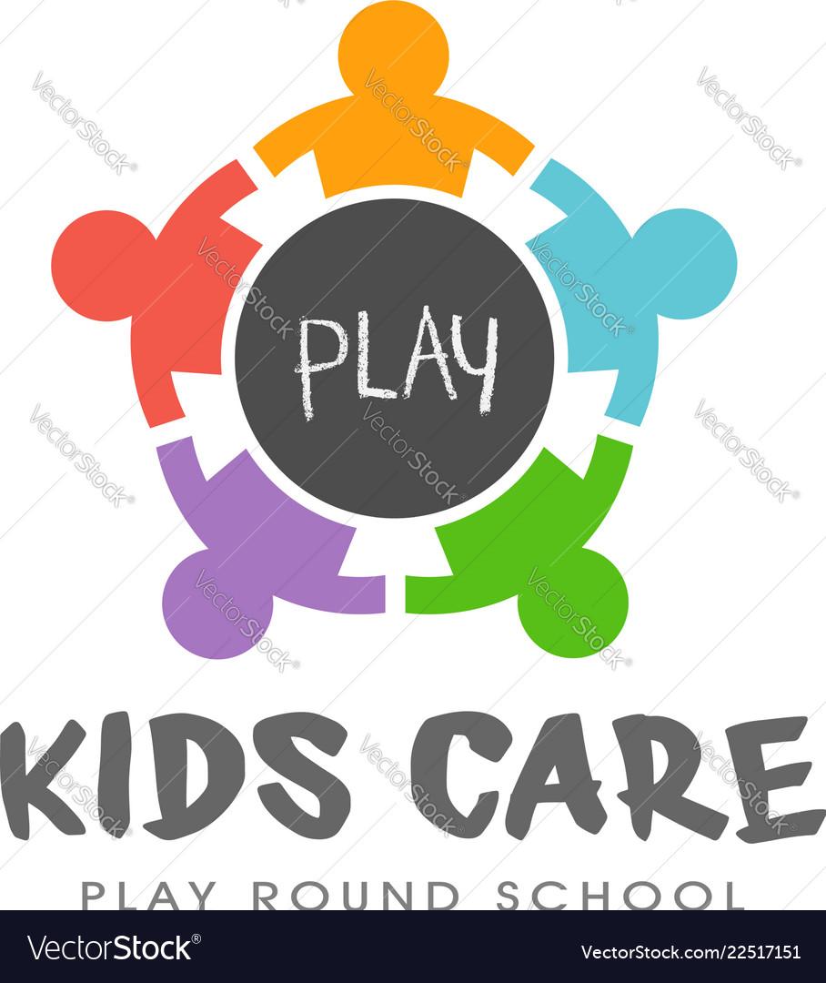 Kids play round table logo