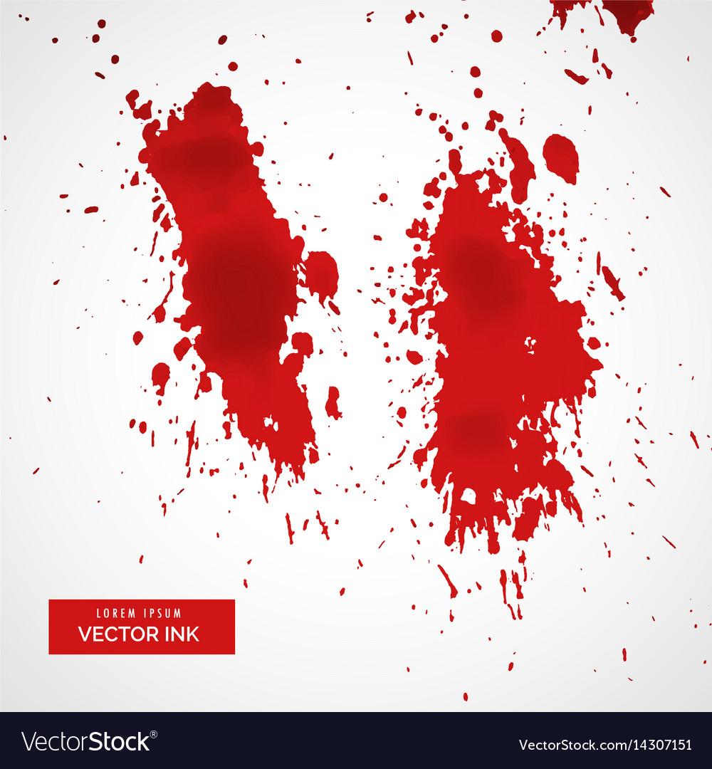 Red blood splatter on white background