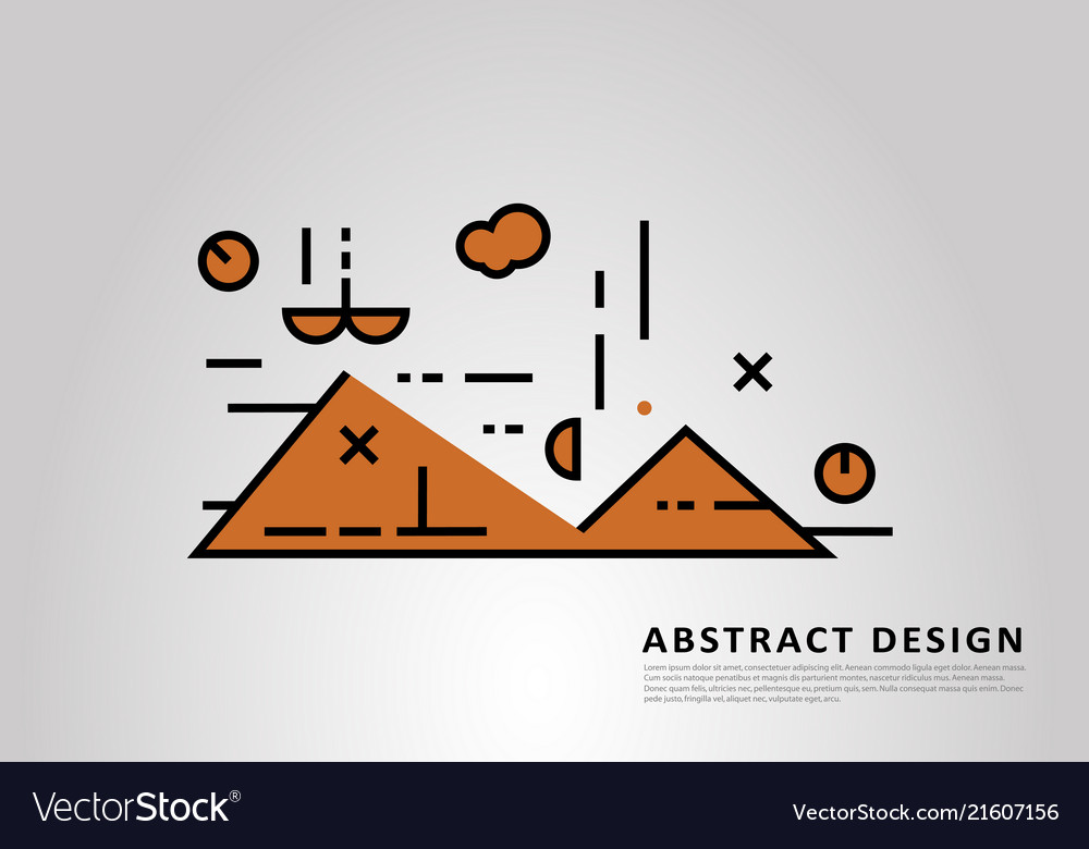 Abstract background with flat linear element