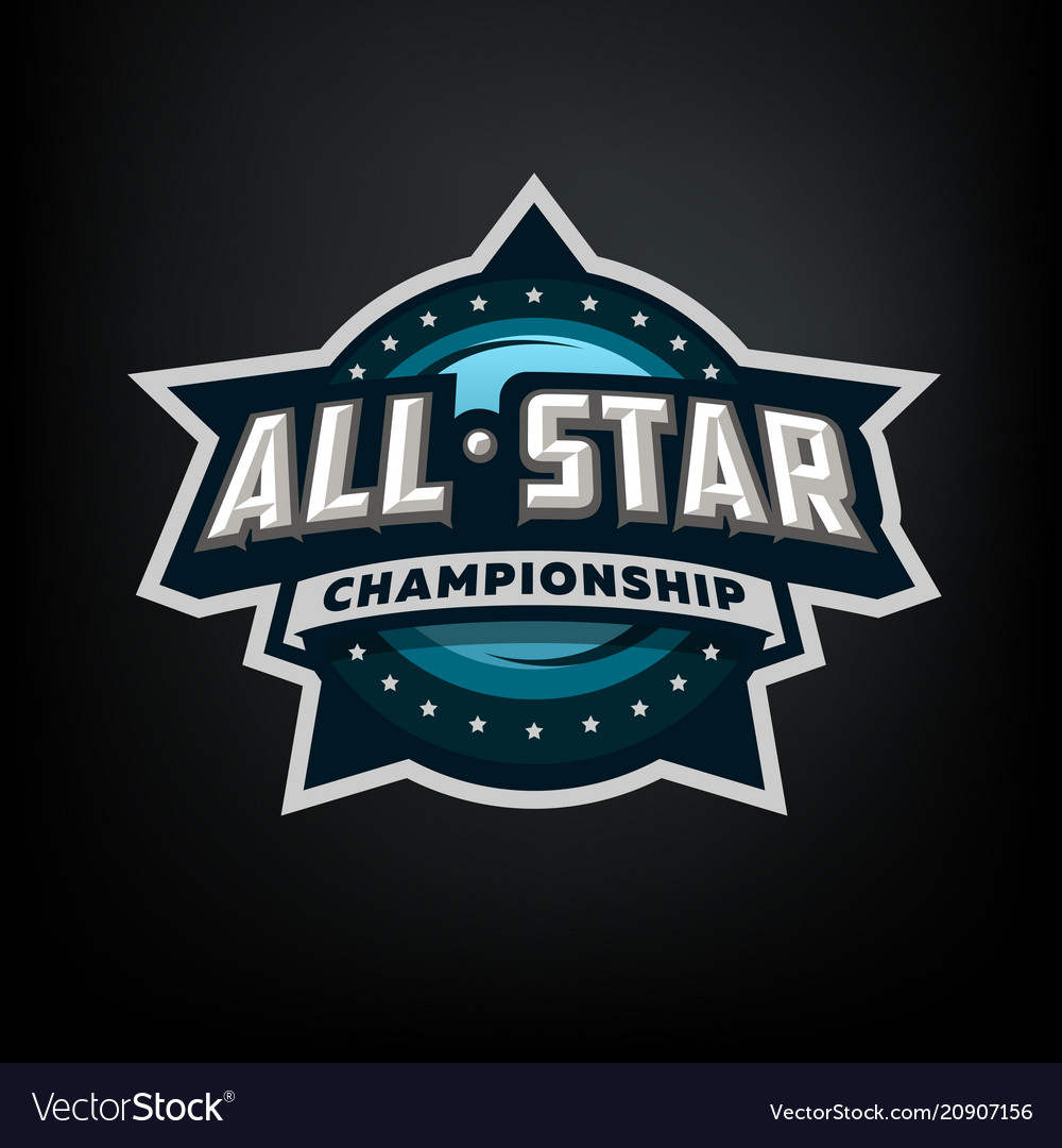 All star sports template logo design vector image