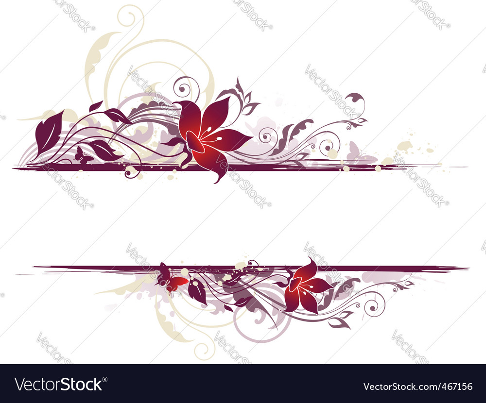 Pictureviolet Flower on Floral Background With Violet Flowers Vector 467156 By Artspace