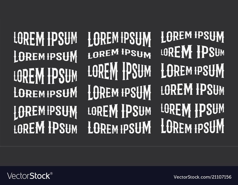 Lorem ipsum logo design element template