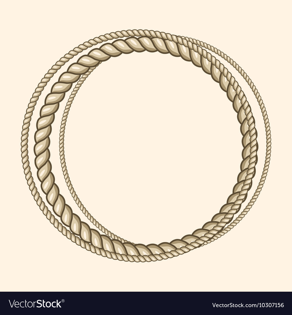 Round marine ropes frame for text