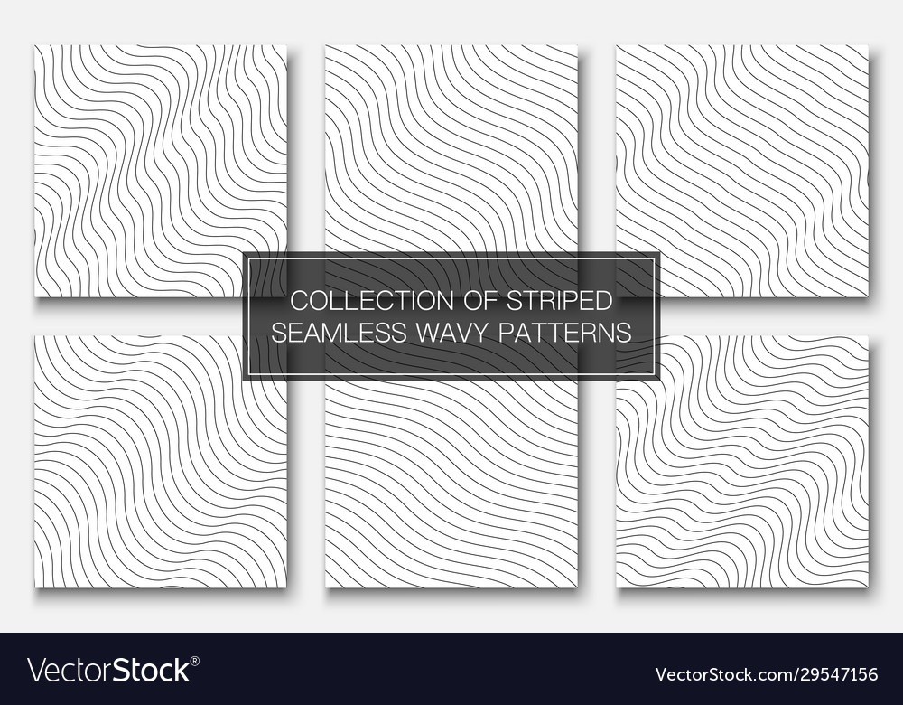 Set simple seamless outline patterns