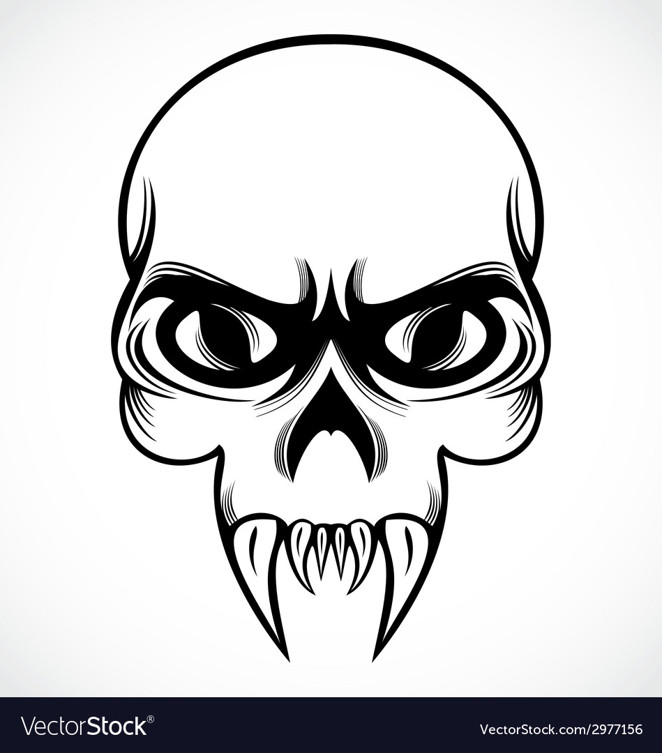 Tribal Skulls vector image