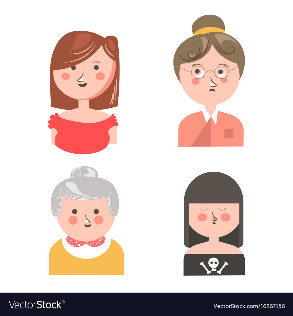 Women from different generations isolated funny