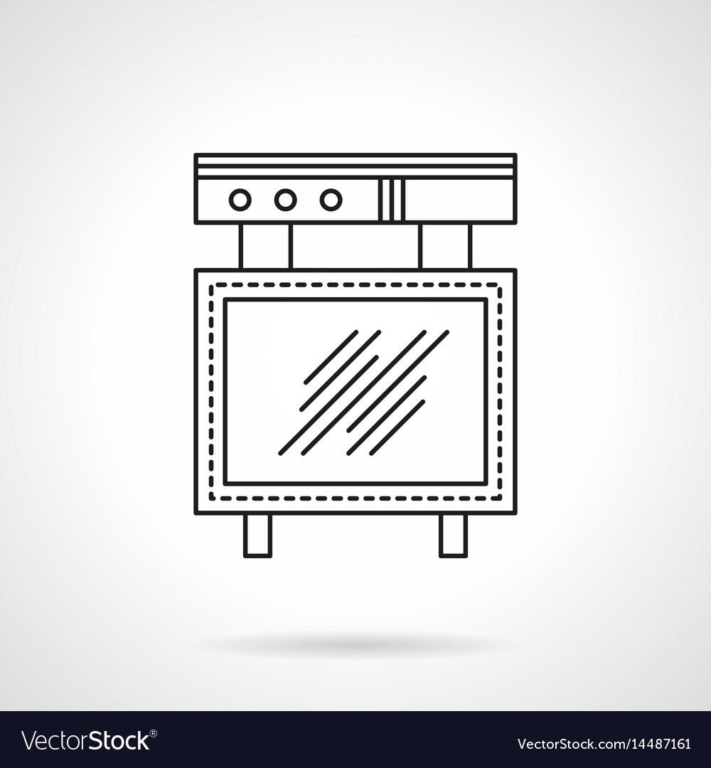Advert board flat line icon vector image