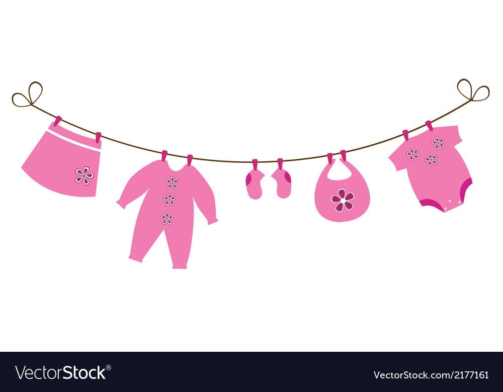 baby clothes royalty free vector image vectorstock