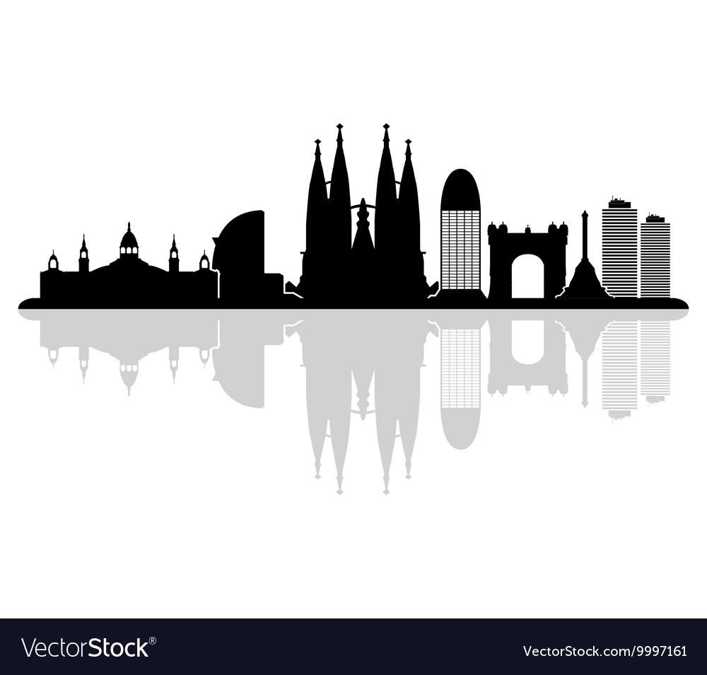 barcelona skyline royalty free vector image vectorstock rh vectorstock com skyline vector new york skyline vector artists