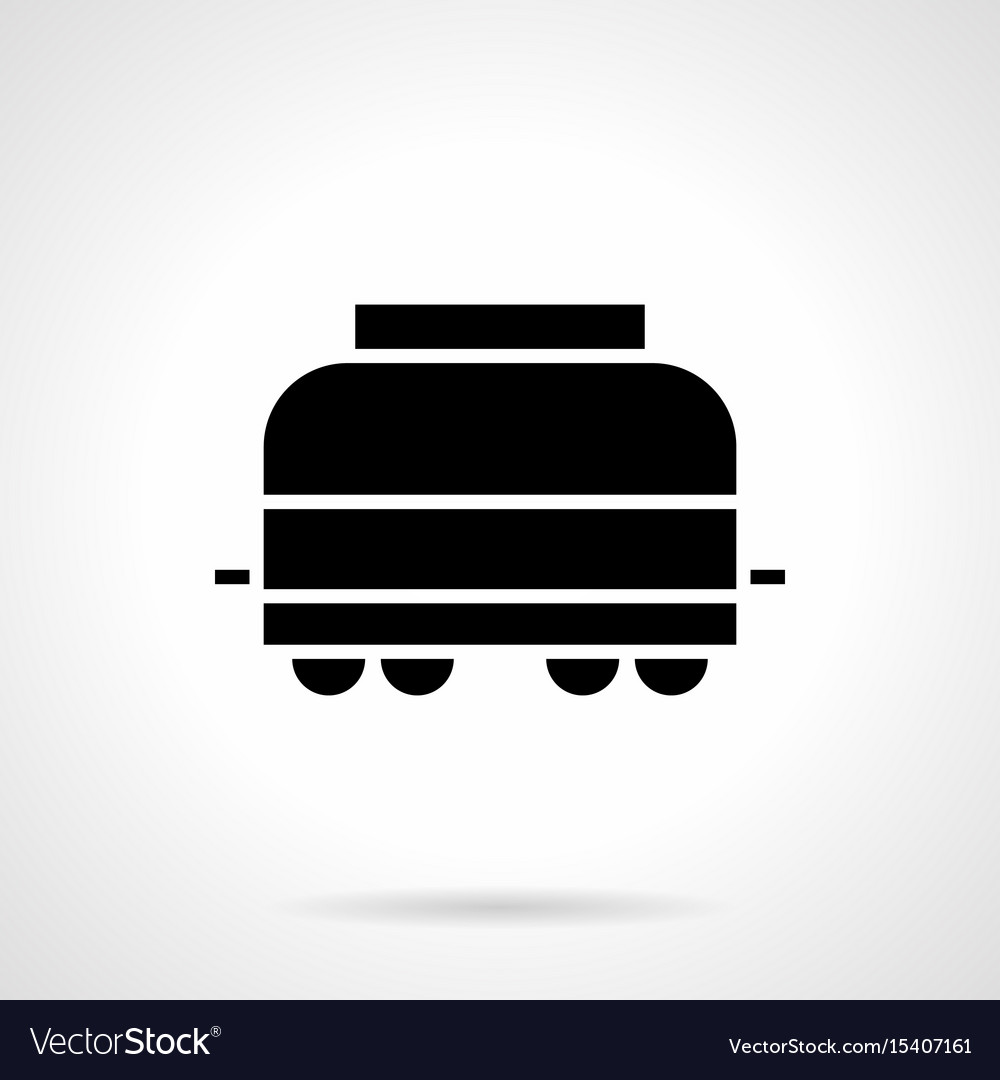 Covered railroad car glyph style icon vector image
