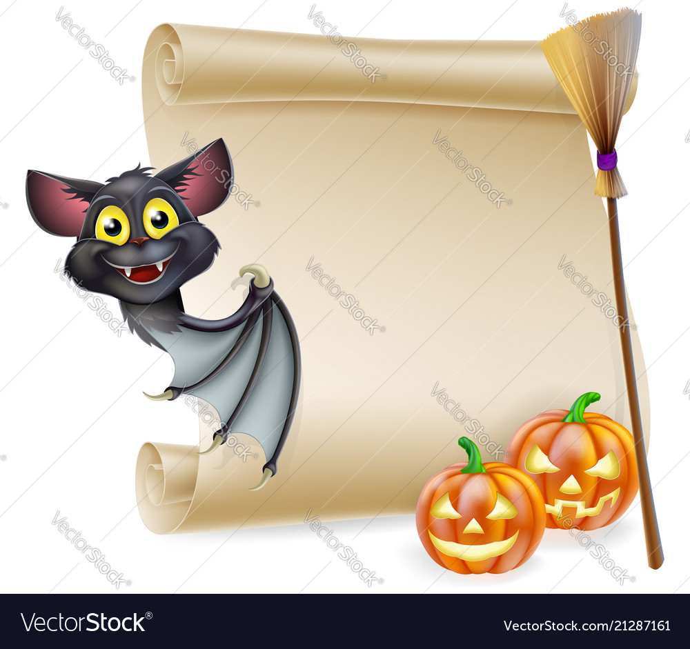 Halloween scroll with space
