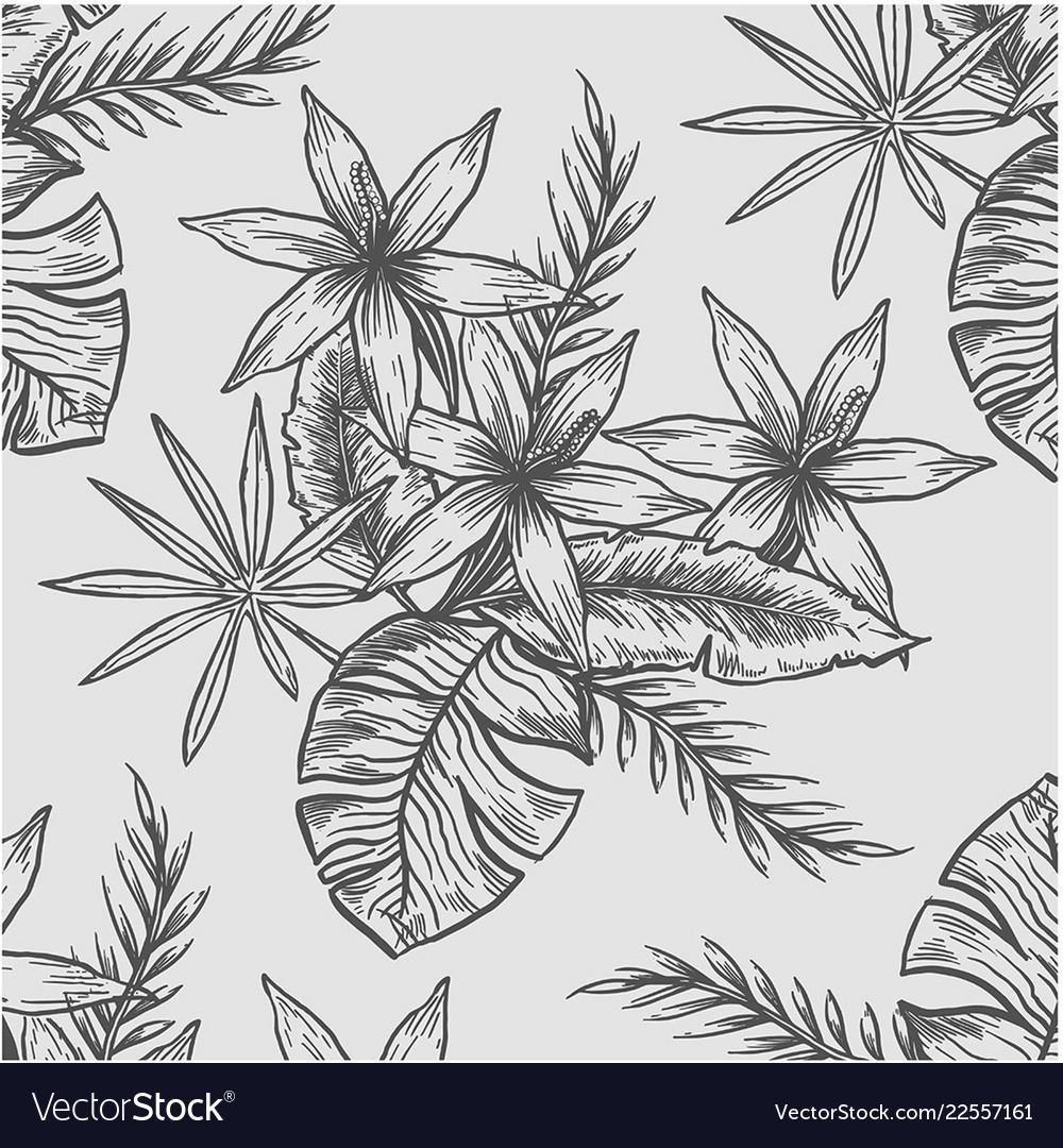 Line flower pattern