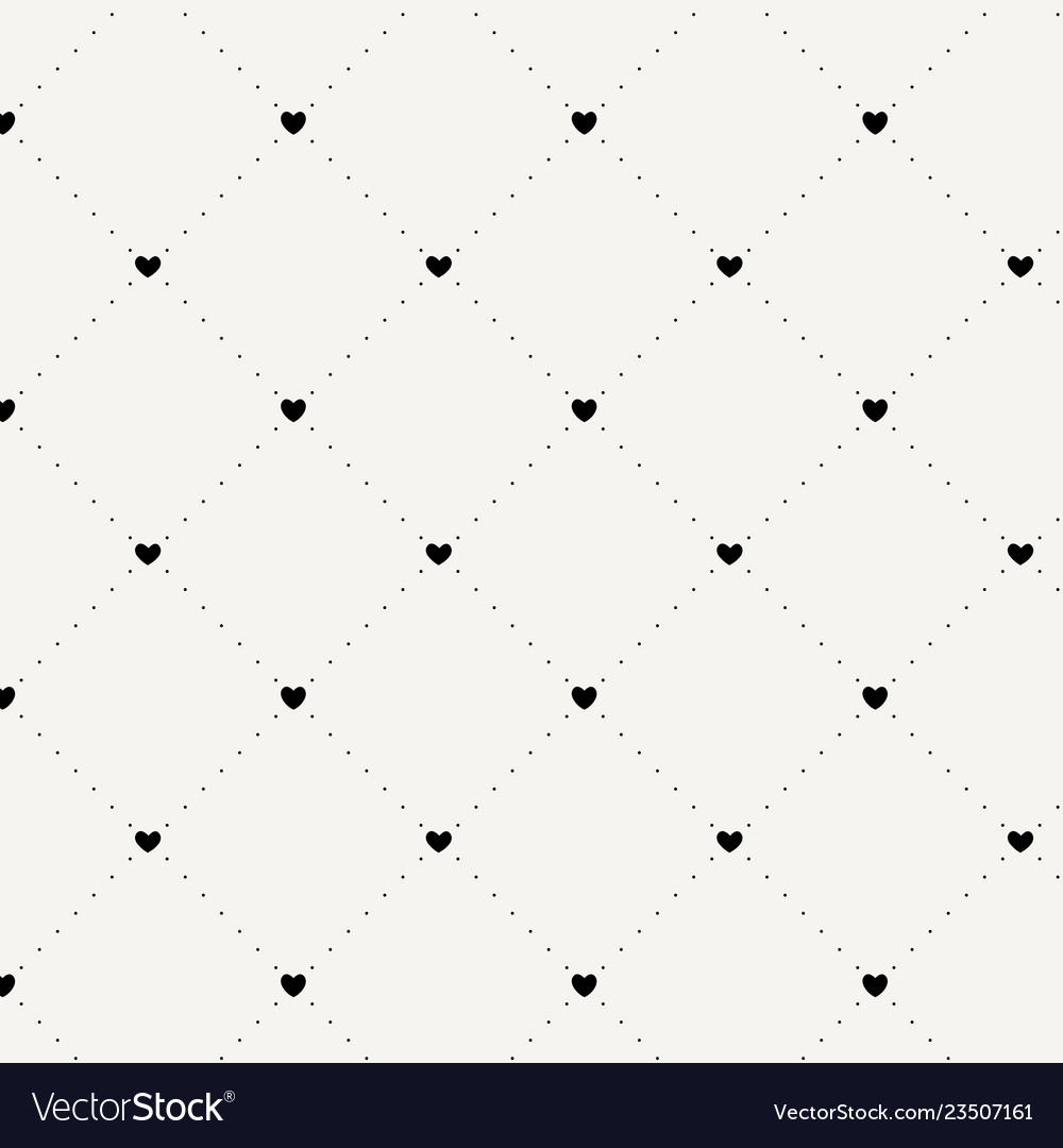 Seamless geometric pattern with hearts repeating