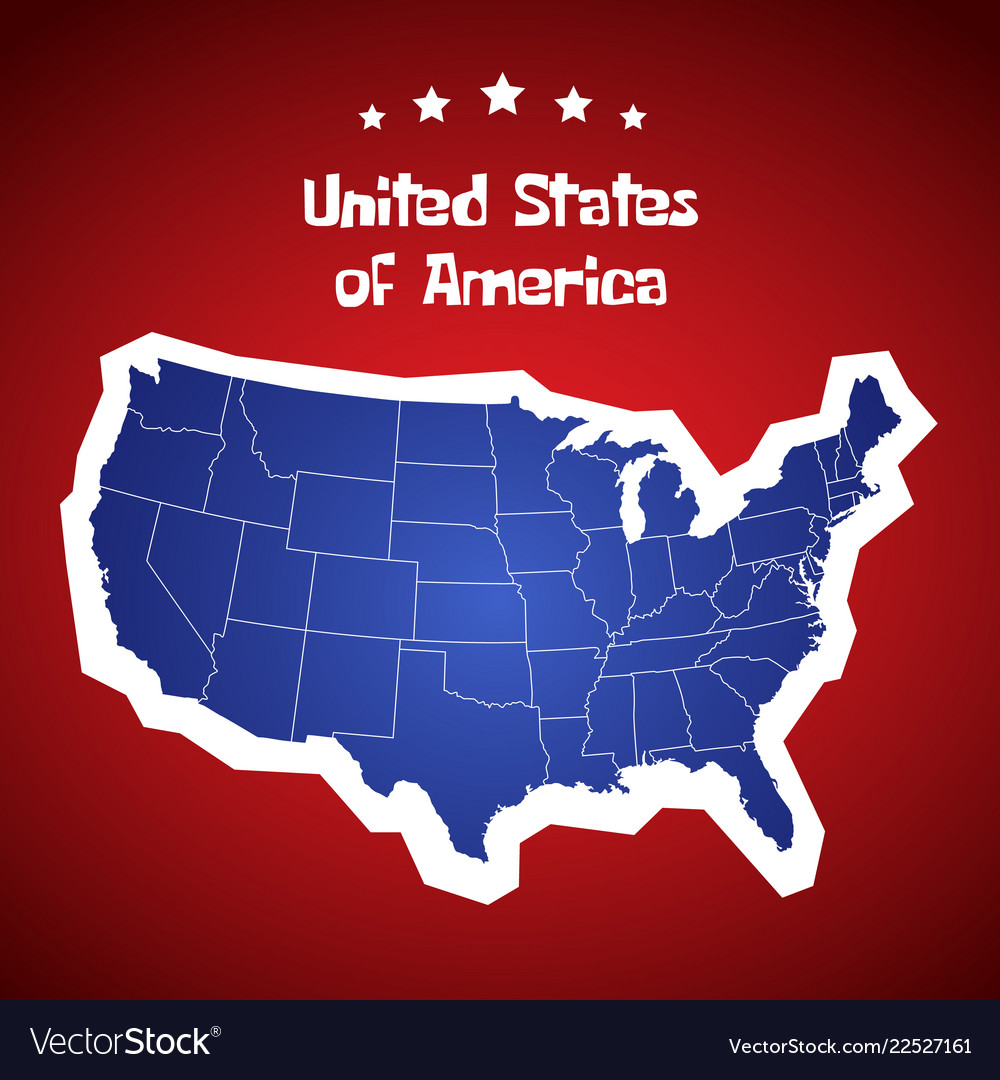 United states of america map usa cartoon Vector Image