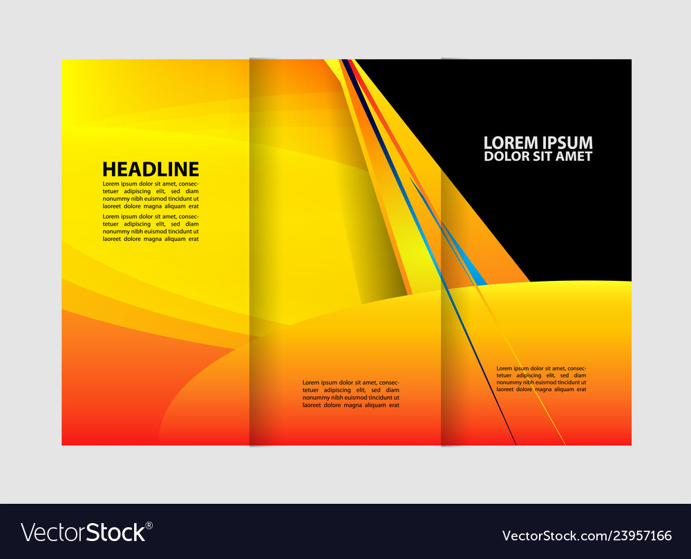 Business Brochure Flyer Template Royalty Free Vector Image