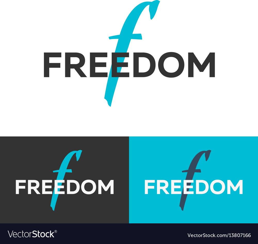 Freedom logo letter f logo logo template