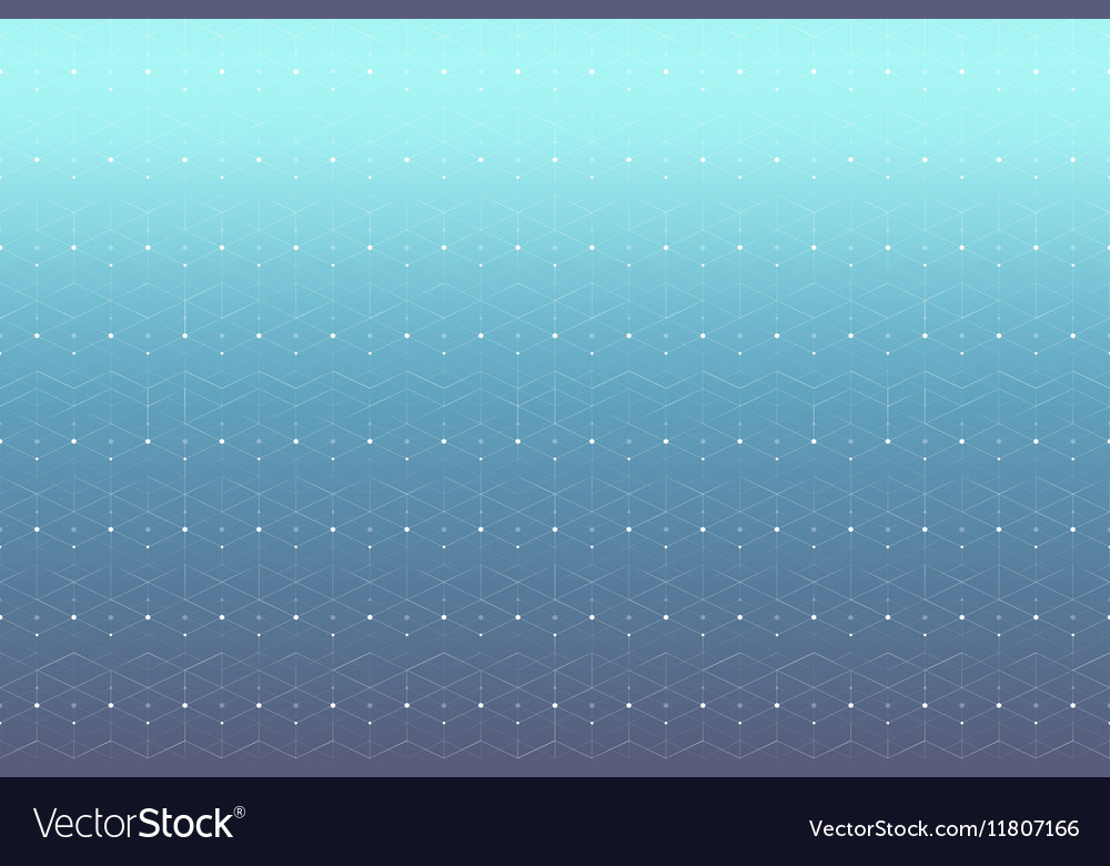 Geometric pattern with connected line and dots vector image