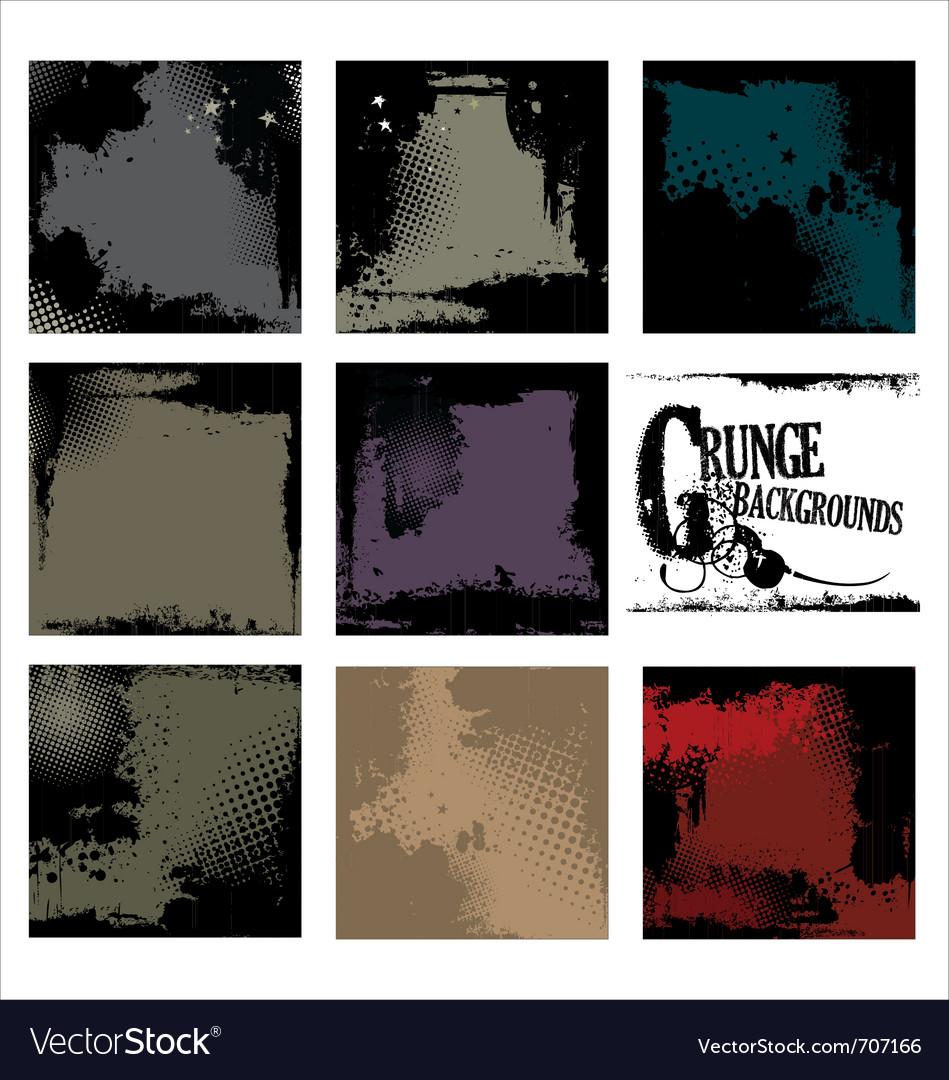 Grunge backgrounds - set