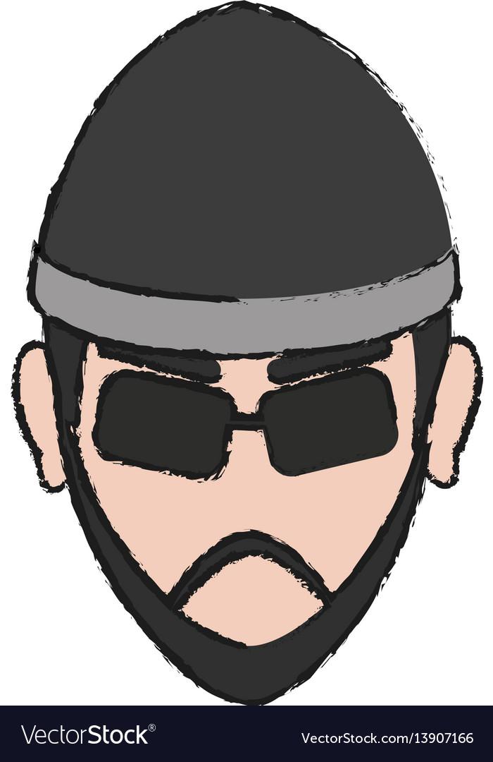 Hacker man icon