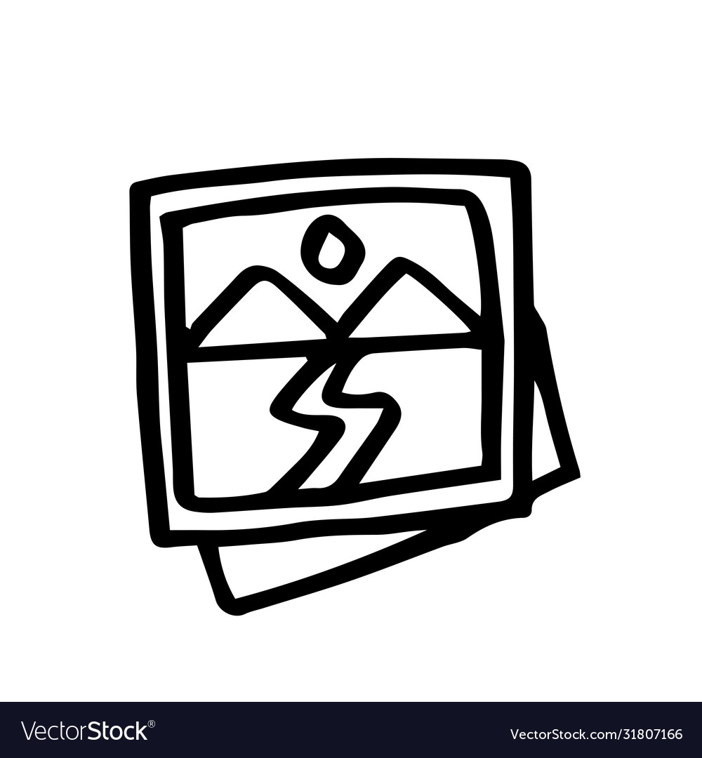 Hand drawn picture symbol doodle icon