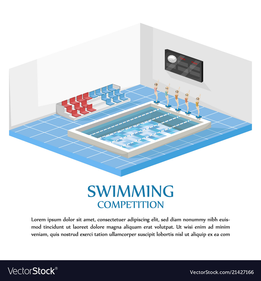 Swimming competition template swimming