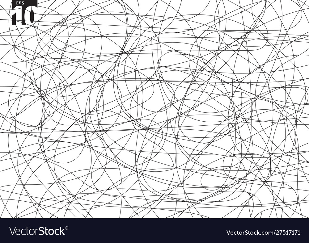 Abstract scribble creative tangle on white