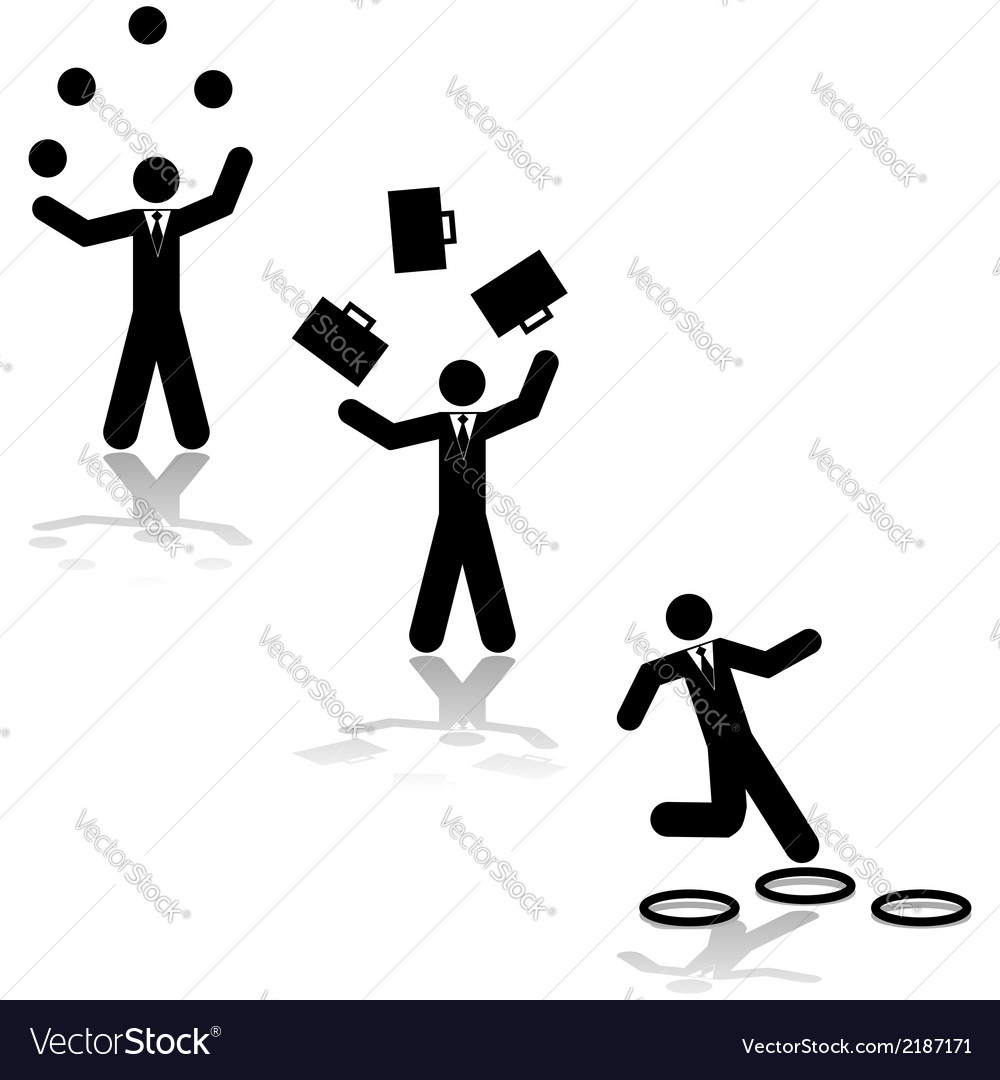 business juggling royalty free vector image vectorstock rh vectorstock com juggling free vector man juggling vector