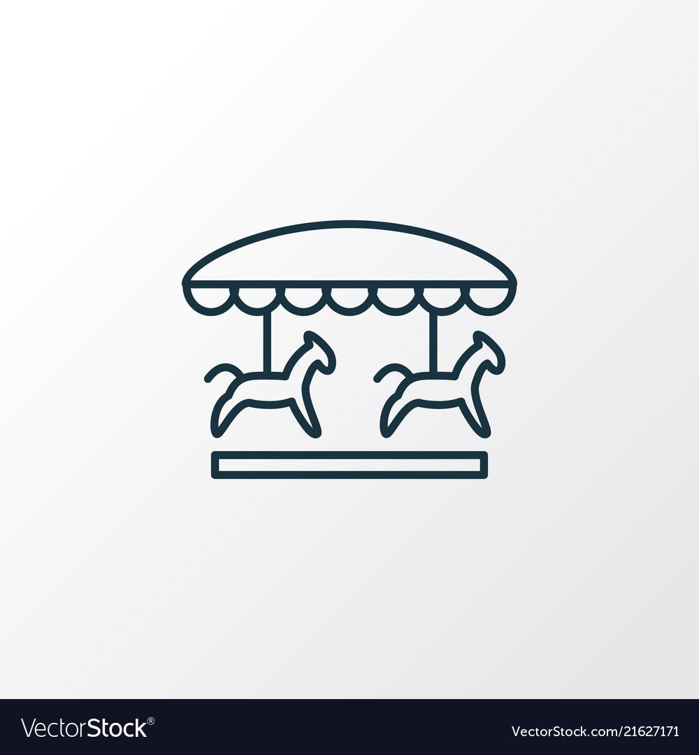 Carousel icon line symbol premium quality