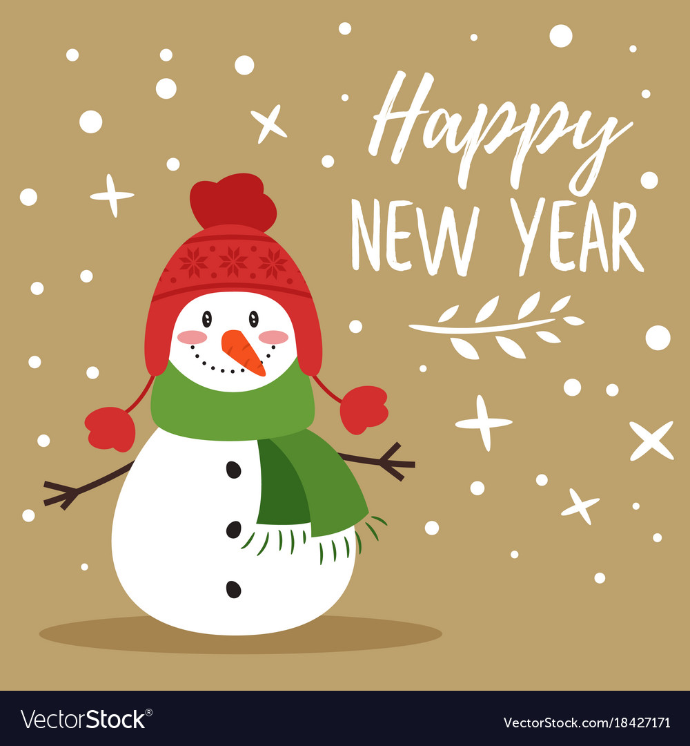 Christmas new year greeting card