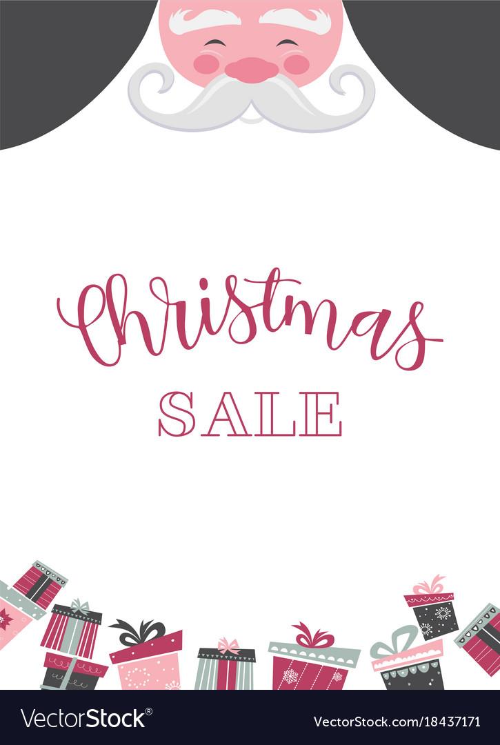 Christmas santa poster or a card christmas sale
