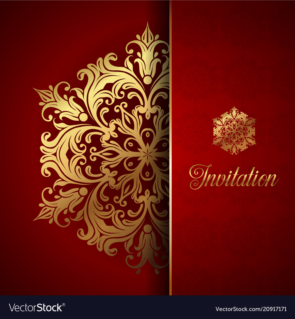 decorative invitation background royalty free vector image