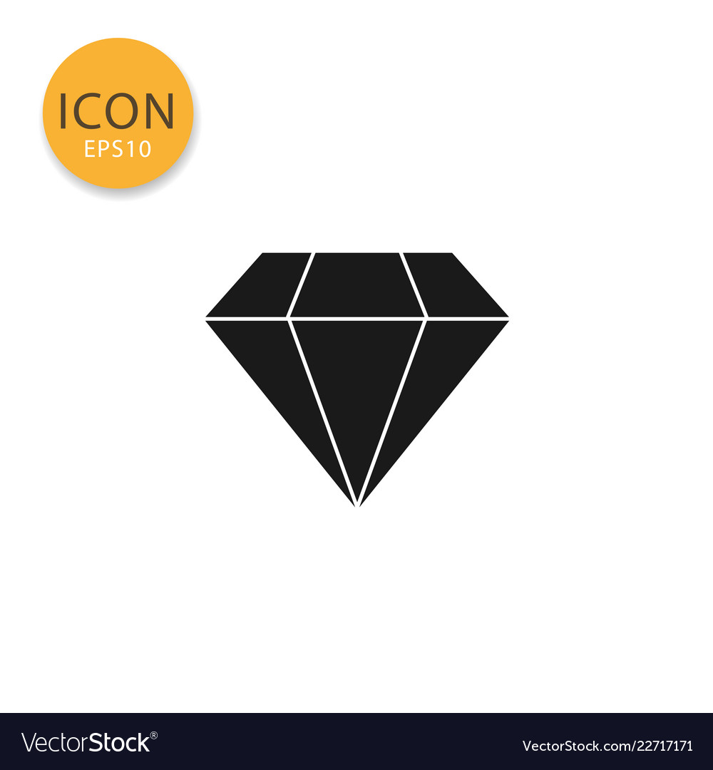 Diamond icon isolated flat style
