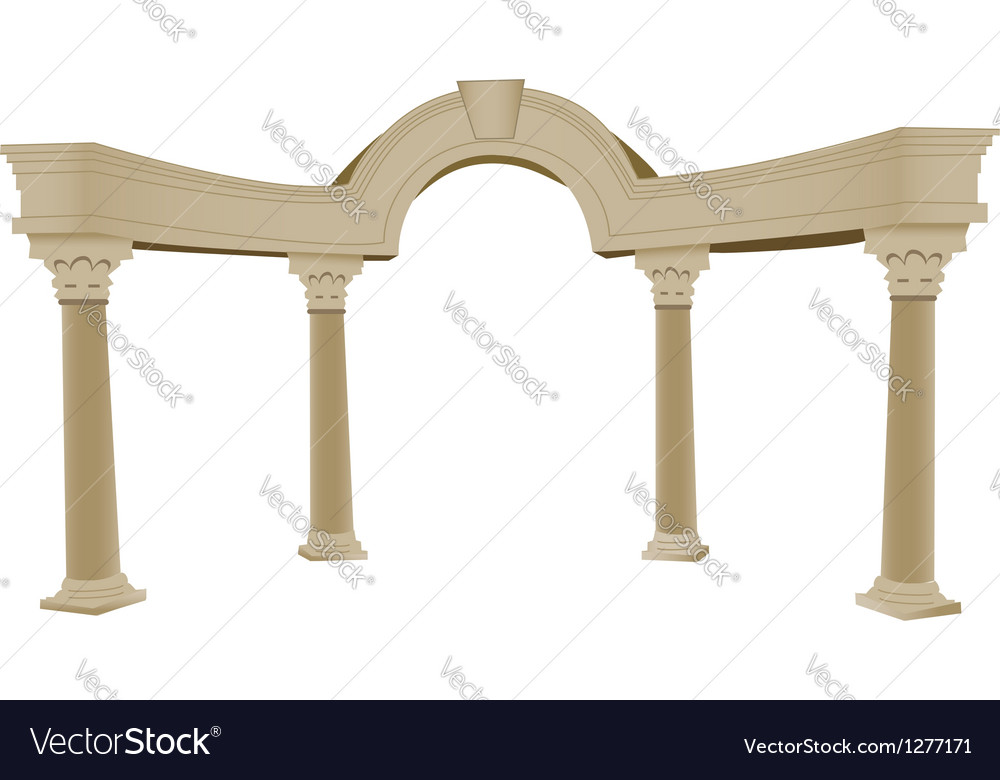 Greek arch column vector image