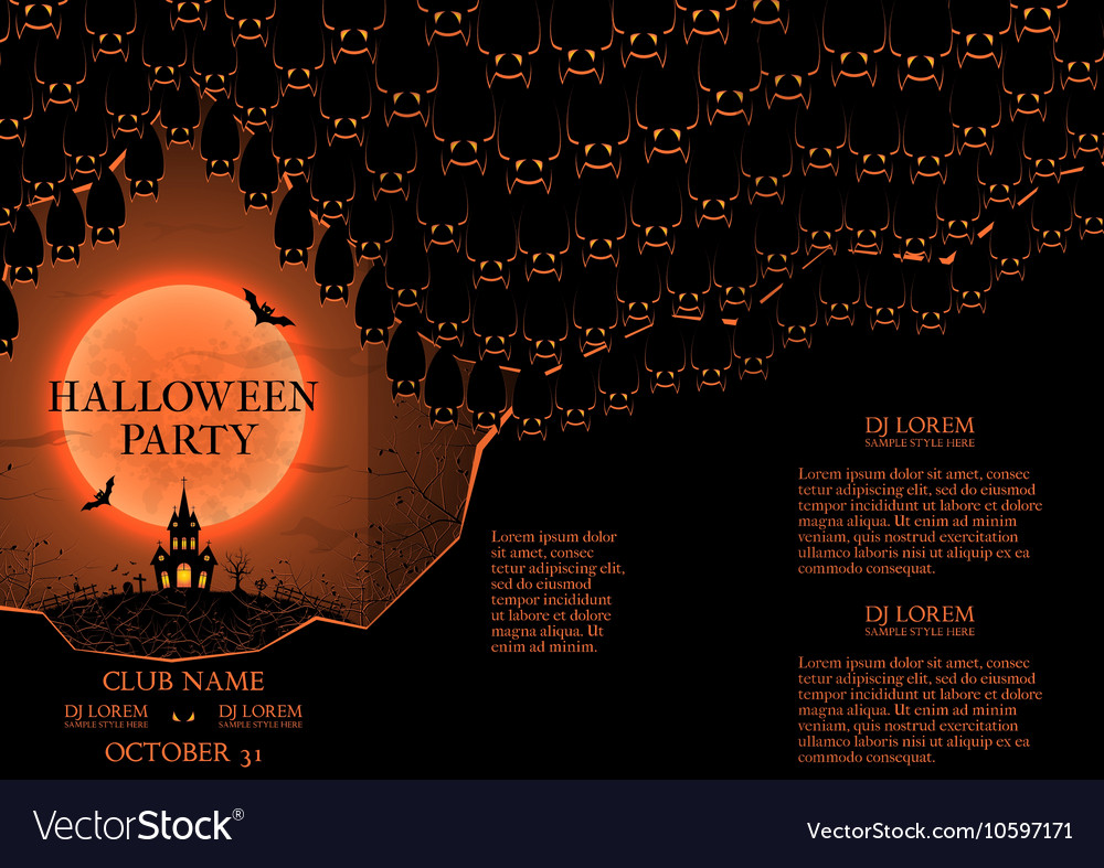 Halloween party booklet