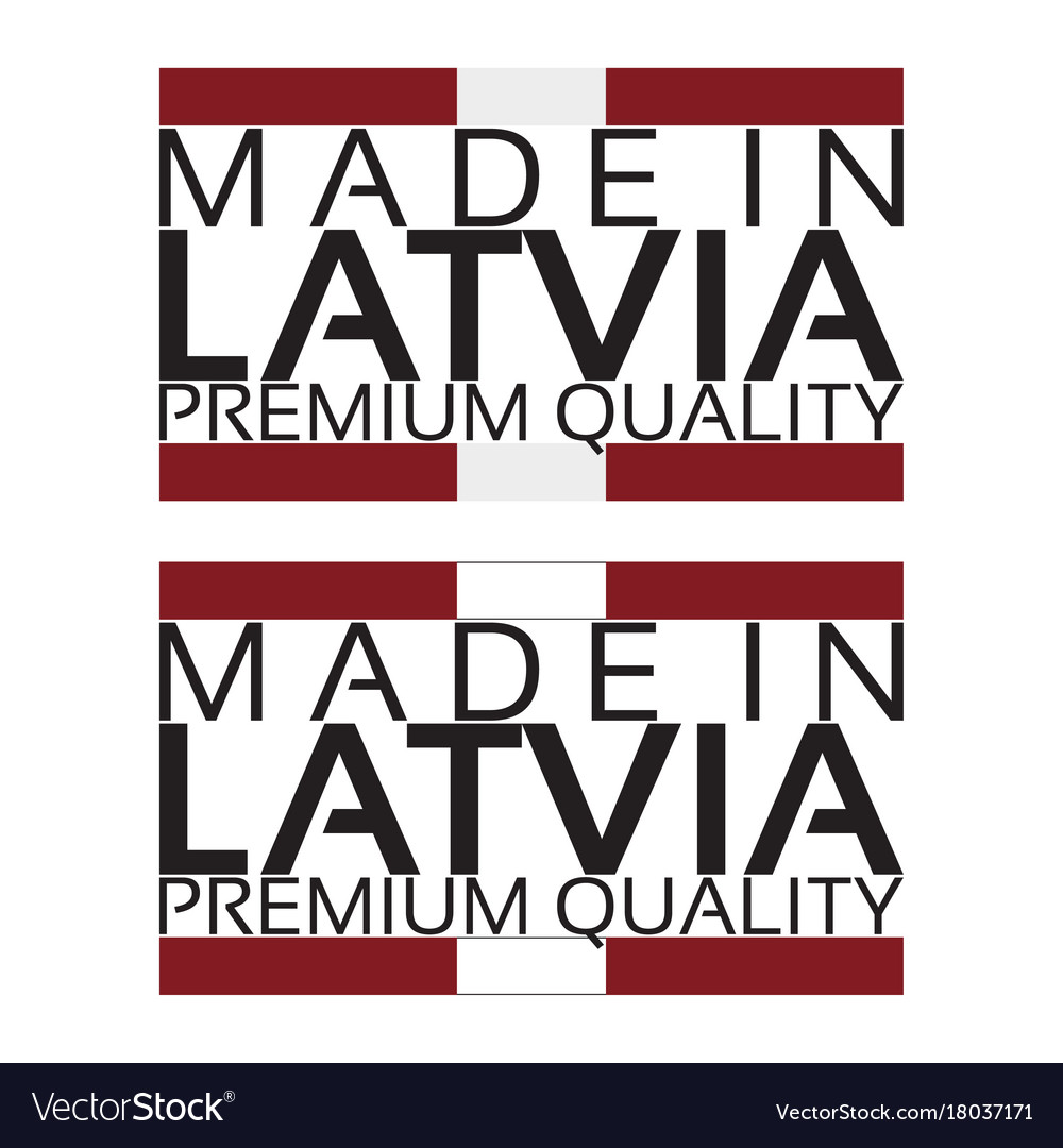Made in latvia icon premium quality sticker vector image