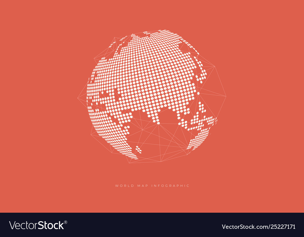 Simple globe shape global connection concept