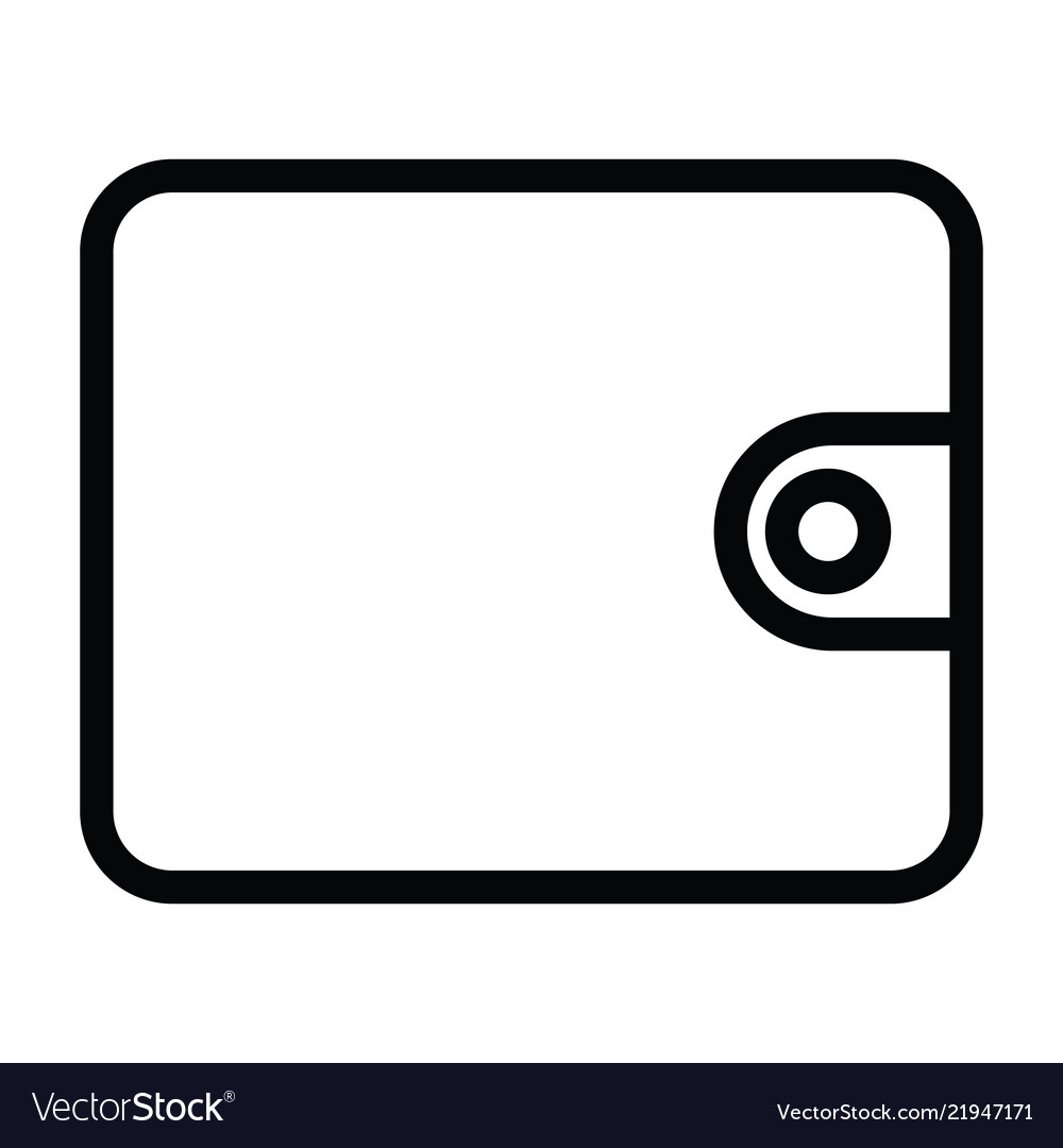 Wallet icon with outline style