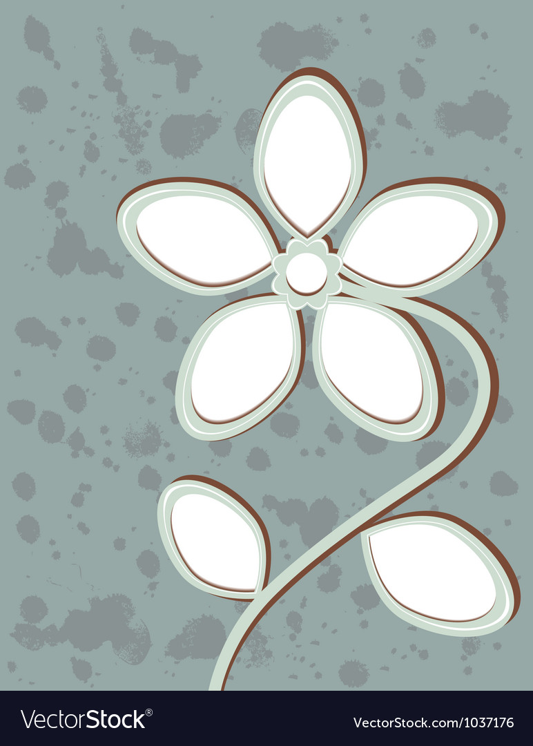 Abstract flower with space for text