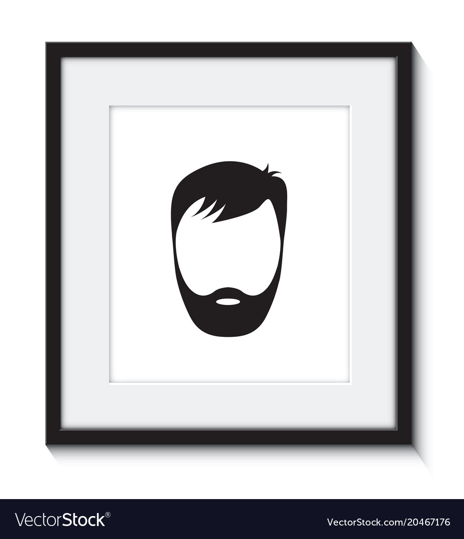 Arabic Man Beard Pro Avatar Icon Arab Businessman Portrait Male Face Round Frame Flat
