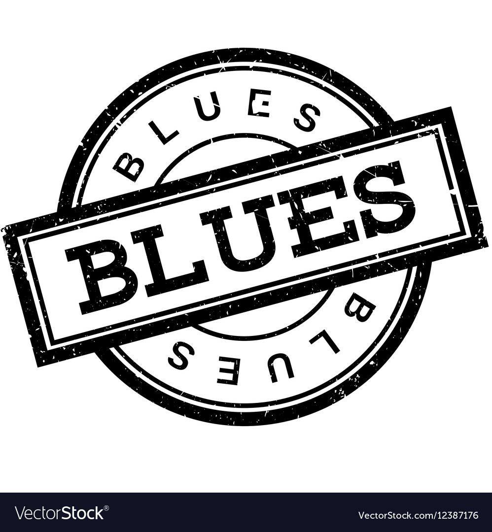 Blues rubber stamp