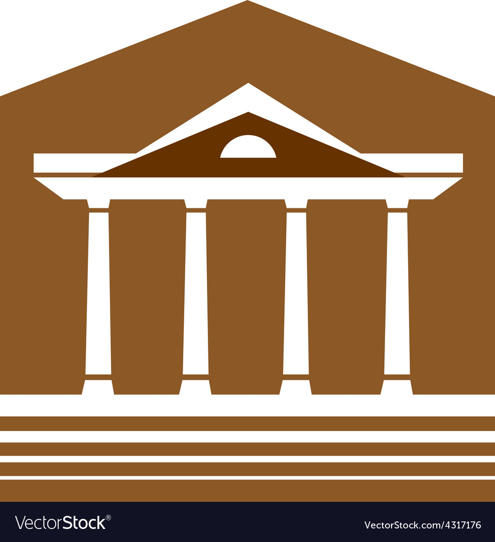 Building with columns logo Lawyer real estate sign