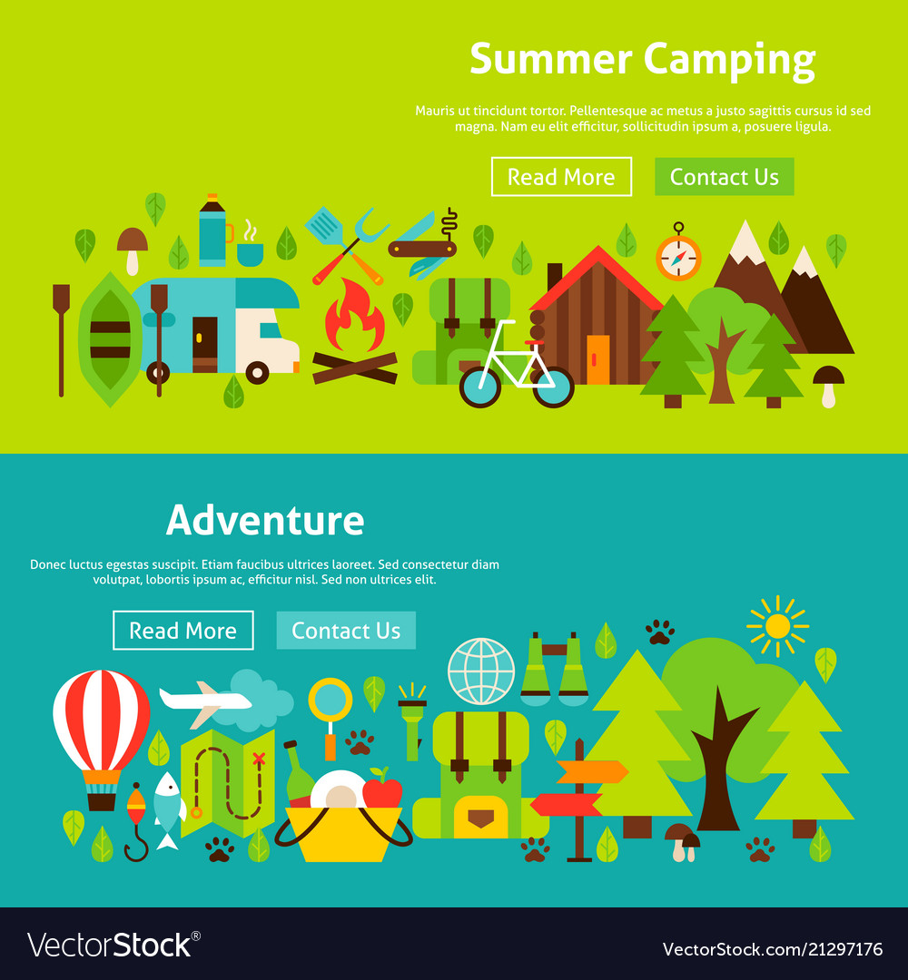 Camping website banners