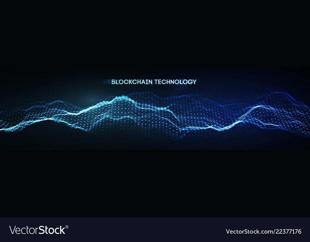 Eps 10 blockchain technology background