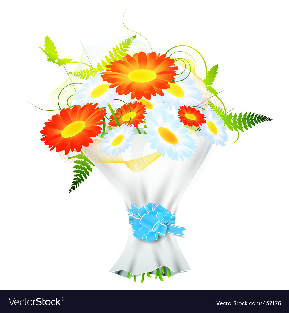 Flower Bouquet Royalty Free Vector Image Vectorstock