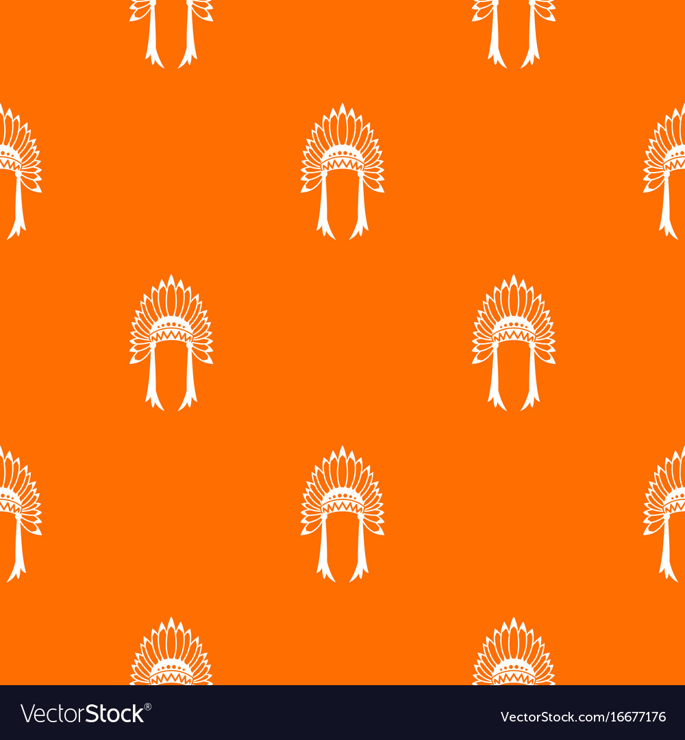 Indian headdress pattern seamless vector image