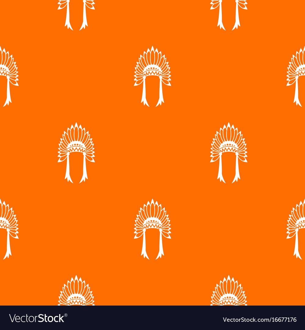Indian headdress pattern seamless