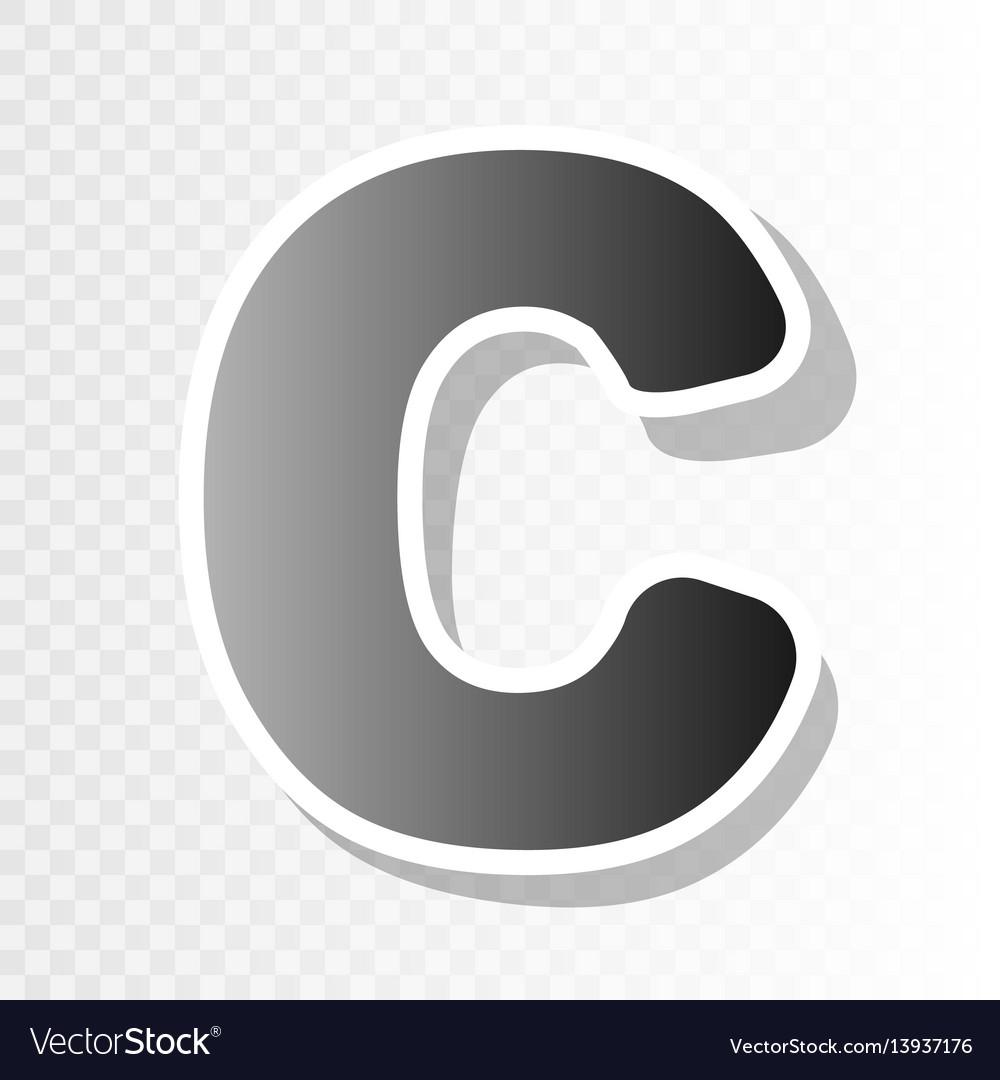 Letter C Sign Design Template Element New